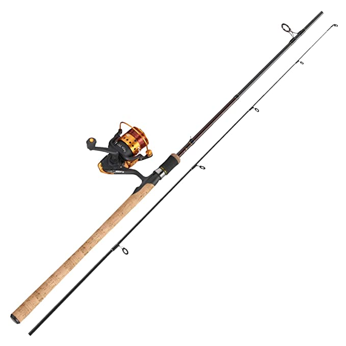 - Ideal for Kids and Holidays- Sea and Freshwater 10g to 30g Fishing Rod and POWER 30 Reel Ready Made Combo Green, Pink and Red 2 Piece FLADEN FESTIVAL 2.1m // 7ft