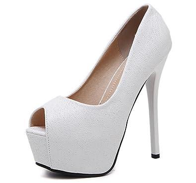 0d3a1e23b12d4e Sandales à Talons Hauts d'été pour Femme,Stiletto en Cuir Noir Chaussures à