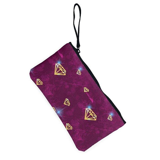 Amazon.com: MODREACH - Cartera con diseño de diamante dorado ...