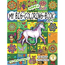 My Big Green Coloring Book Vol. 2: Over 100 Big Pages of Family Activity! Coloring, ABCs, 123s, Characters, Puzzles, Mazes, Shapes, Letters + Numbers for Boys, Girls, Toddlers and even Adults! Age 3+