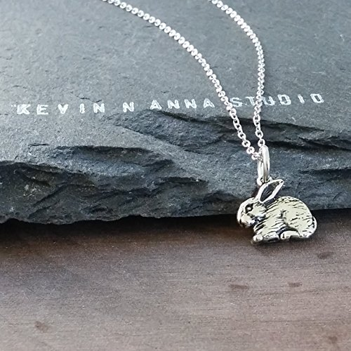 Sterling Silver Rabbit Charm Necklace, 18