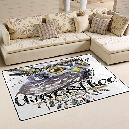 39 Bedroom Doormat x American Mat Dream Chief Slip Non Catcher Bathroom Floor 60 inch with Rug Animal Indian Owl Ground Headdress HxqUg6x