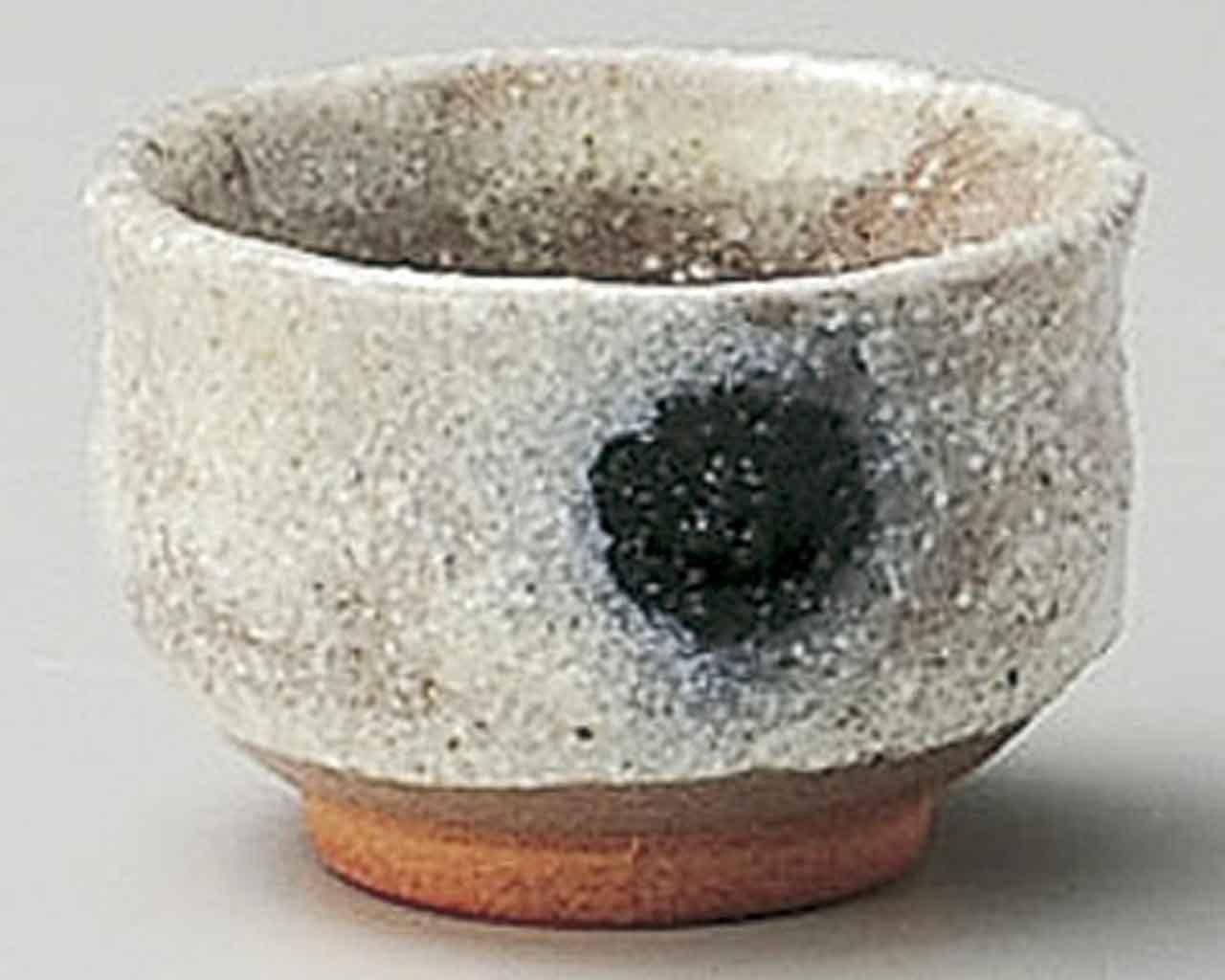 Bokashi 2.4inch Sake Cup Beige Ceramic Made in Japan watou.asia
