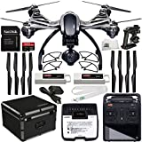 YUNEEC Q500 4K Typhoon Quadcopter with CGO3-GB Camera (RTF) & Manufacturer Accessories + Extra YUNEEC Battery + YUNEEC Hardshell Case + Set of 4 Quick-Release Snap On/Off Prop Guards + MORE