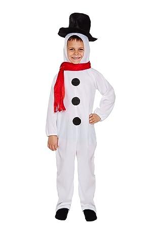 Christmas Fancy Dress Kids.Childrens Medium Festive Christmas Snowman Kids Fancy Dress Costume