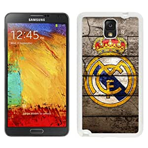 Easy Use Galaxy Note 3 Case Design with Real Madrid 2 White Case for Samsung Galaxy Note 3 III N900 N9005