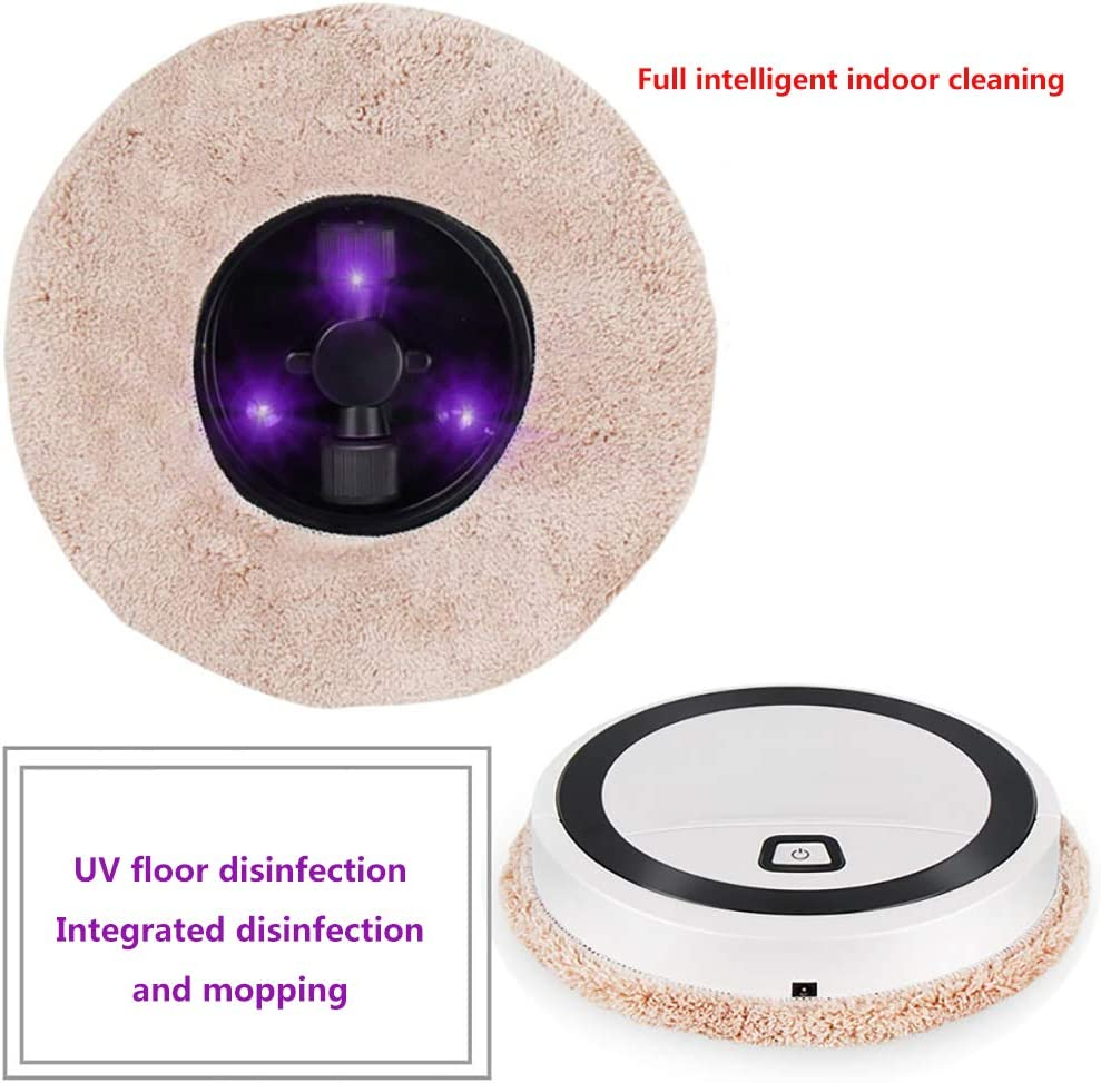Mopping Machine with UV Sterilization,2 in One Wet Dry Vacuum Cleaner and Mop,Home Robotic Vacuums,USB Self-Charging,Good for Pet Hair, Carpets, Hard Floors