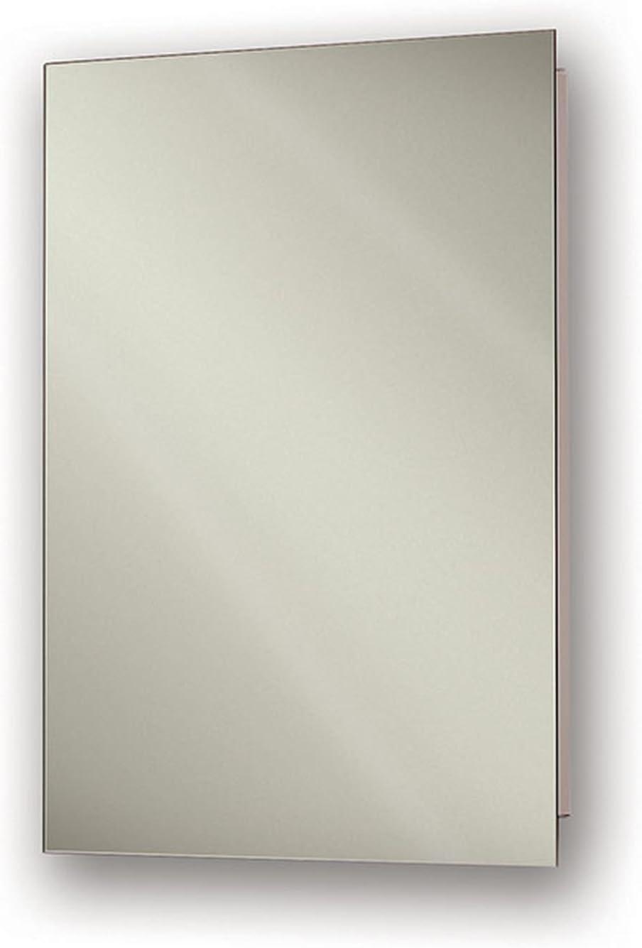 "Jensen 869P24WHX Polished Edge Mirror Medicine Cabinet, 15"" x 26"""
