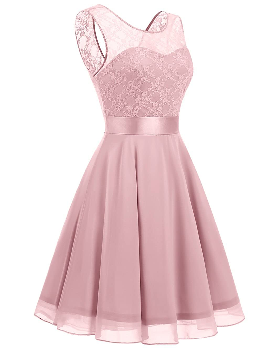 BeryLove Women\'s Short Floral Lace Bridesmaid Dress A-line Swing ...
