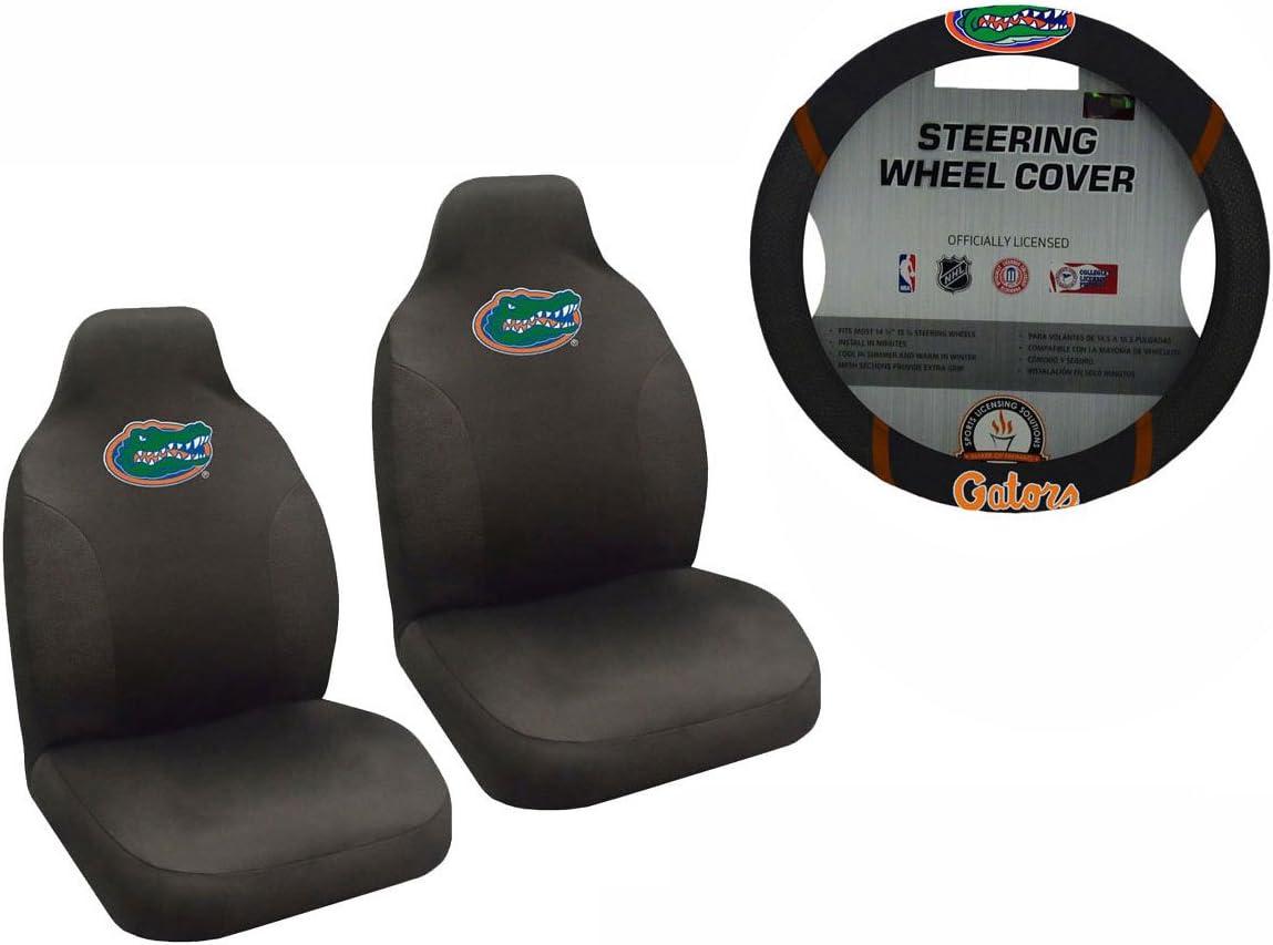 New NCAA Duke Blue Devils Car Truck Seat Covers /& Steering Wheel Cover Set