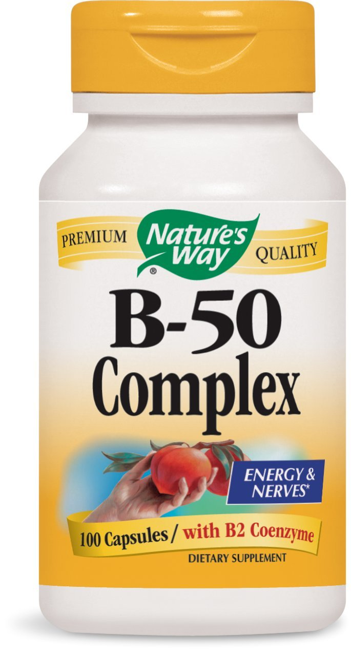 Nature's Way Vitamin B-50 Complex, 100 Capsules (Pack of 2)