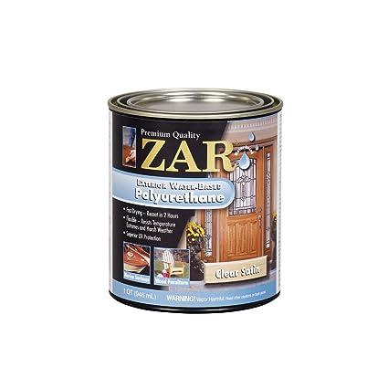 Good ZAR 32712 Exterior Water Based Polyurethane, Satin