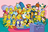 The Simpsons - TV Show Poster / Print (The Cast On Couch / Sofa) (Size: 36' x 24') (By POSTER STOP ONLINE)