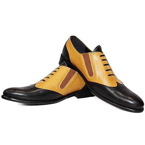 8de998f515a Modello Babirello - Cuero Italiano Hecho A Mano Hombre Piel Negro Zapatos  Vestir Oxfords - Cuero Cuero Suave - Encaje  Amazon.es  Zapatos y  complementos