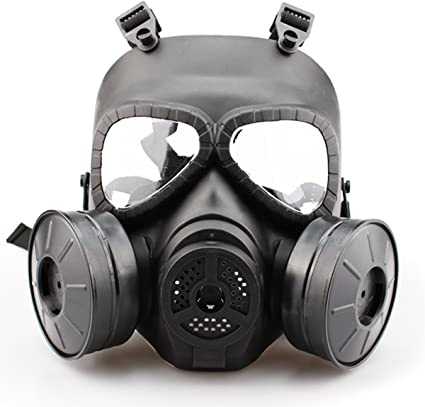 Tactical Shooting Full Face Anti Fog Paintball PC Mask with Air Filtration Fan