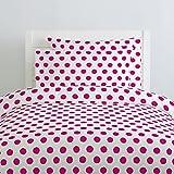Carousel Designs Fuchsia Brush Dots Duvet Cover Queen/Full Size - Organic 100% Cotton Duvet Cover - Made in the USA