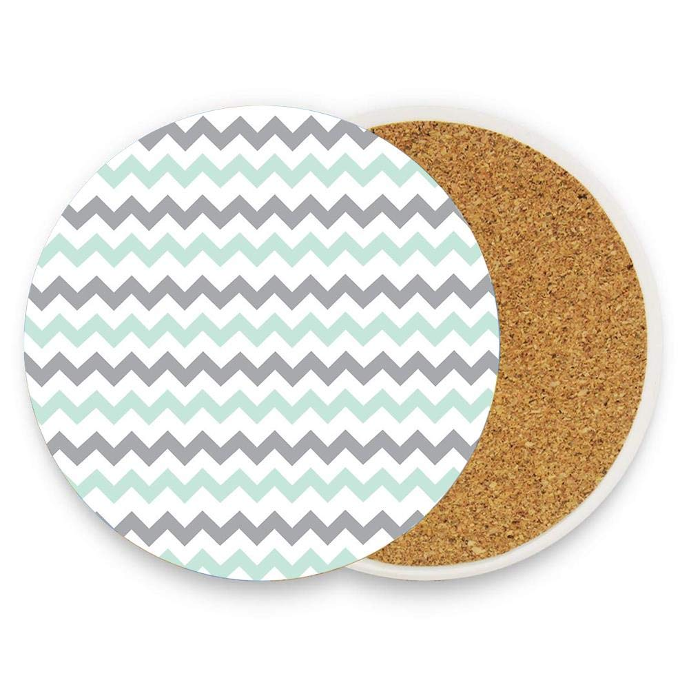 Tea Love Absorbent Ceramic Stone Coaster Cork Backing Pack of 1 Pieces Drink Spills Coasters for Drinks
