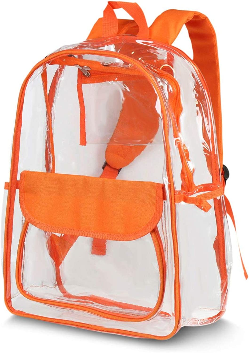 Orange Transparent Backpack