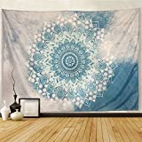 Sunm boutique Mandala Tapestry Wall Hanging Hippie Bohemian Tapestries Wall Tapestry Flower Psychedelic Bohemian Tapestry Wall Blanket Wall Decor Wall Art Living Room Bedroom