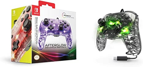 PDP - Mando Afterglow Deluxe Con Cable (Nintendo Switch): Amazon ...