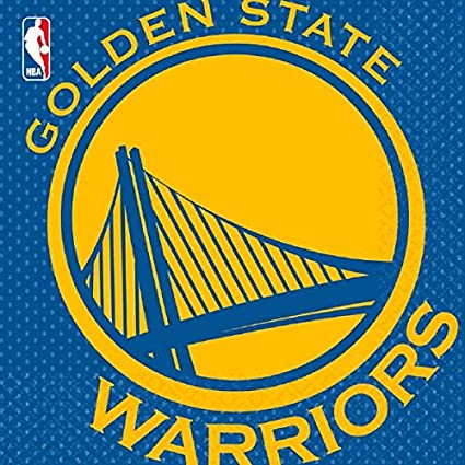 Amazon Com Amscan 513623 Golden State Warriors Nba Collection Luncheon Napkins 16 Pcs Toys Games