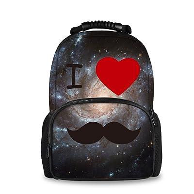 7b41d5d96d89 Coloranimal Men's Galaxy Backpack Universe Planets Printed Felt ...