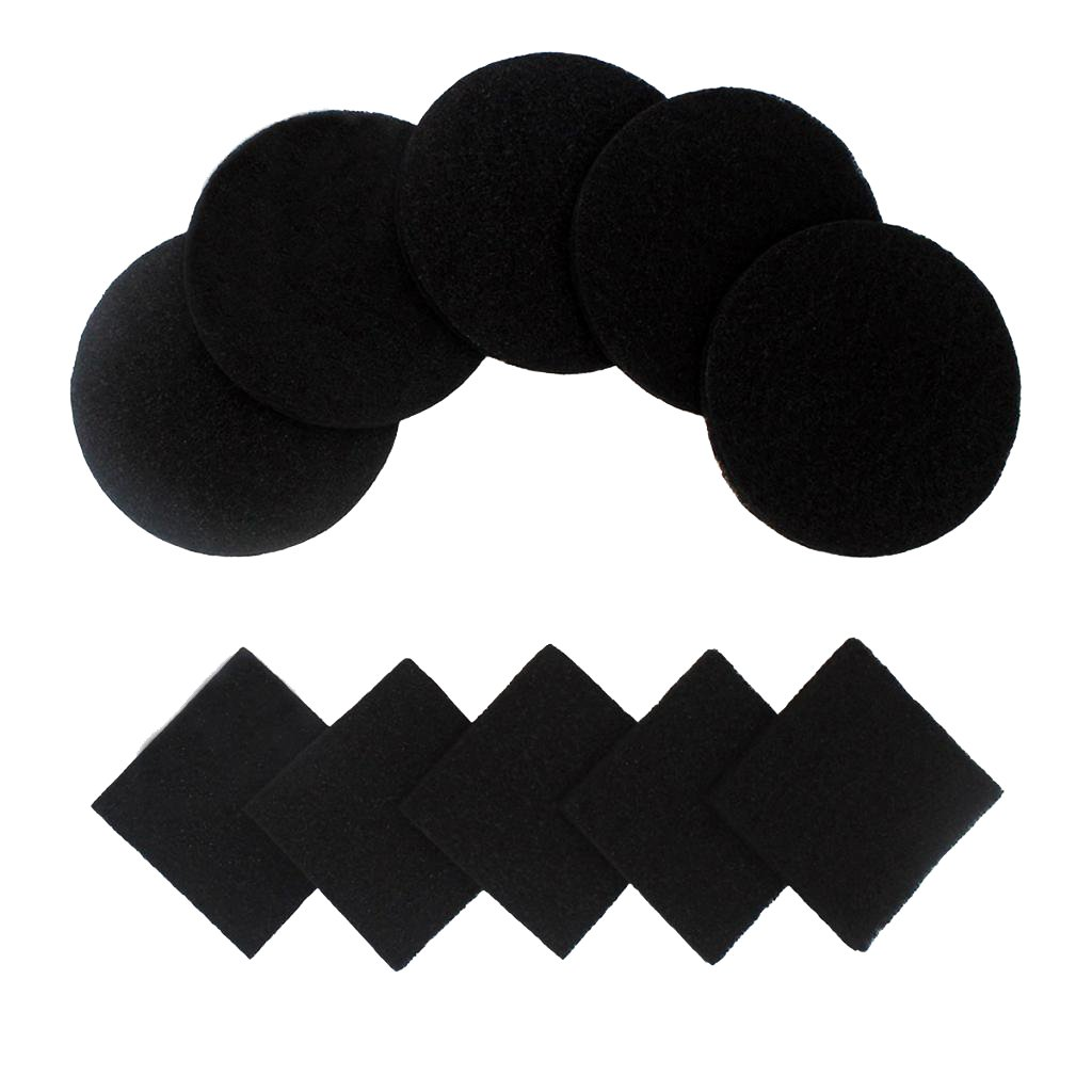 Homyl Activated Carbon Compost Bin Filter Refill Pack, Pack of 10 Odor Absorbing Charcoal Filters (Round + Square)