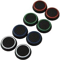 4 Pair / 8 Pcs Remplacement Luminous Analog Controller étui Housse Bouchon de Protection Silicone Pouce Thumb Grip Thumbstick Cap Cover Ensembles noctulescents pour PS3 / PS4 / Xbox 360 / Xbox One Game Controllers Black