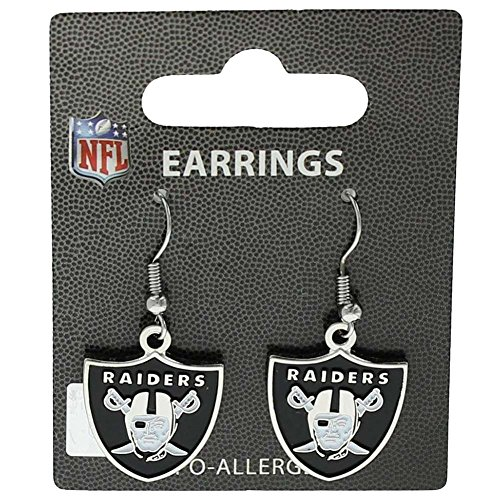NFL Oakland Raiders Logo Dangler Earrings