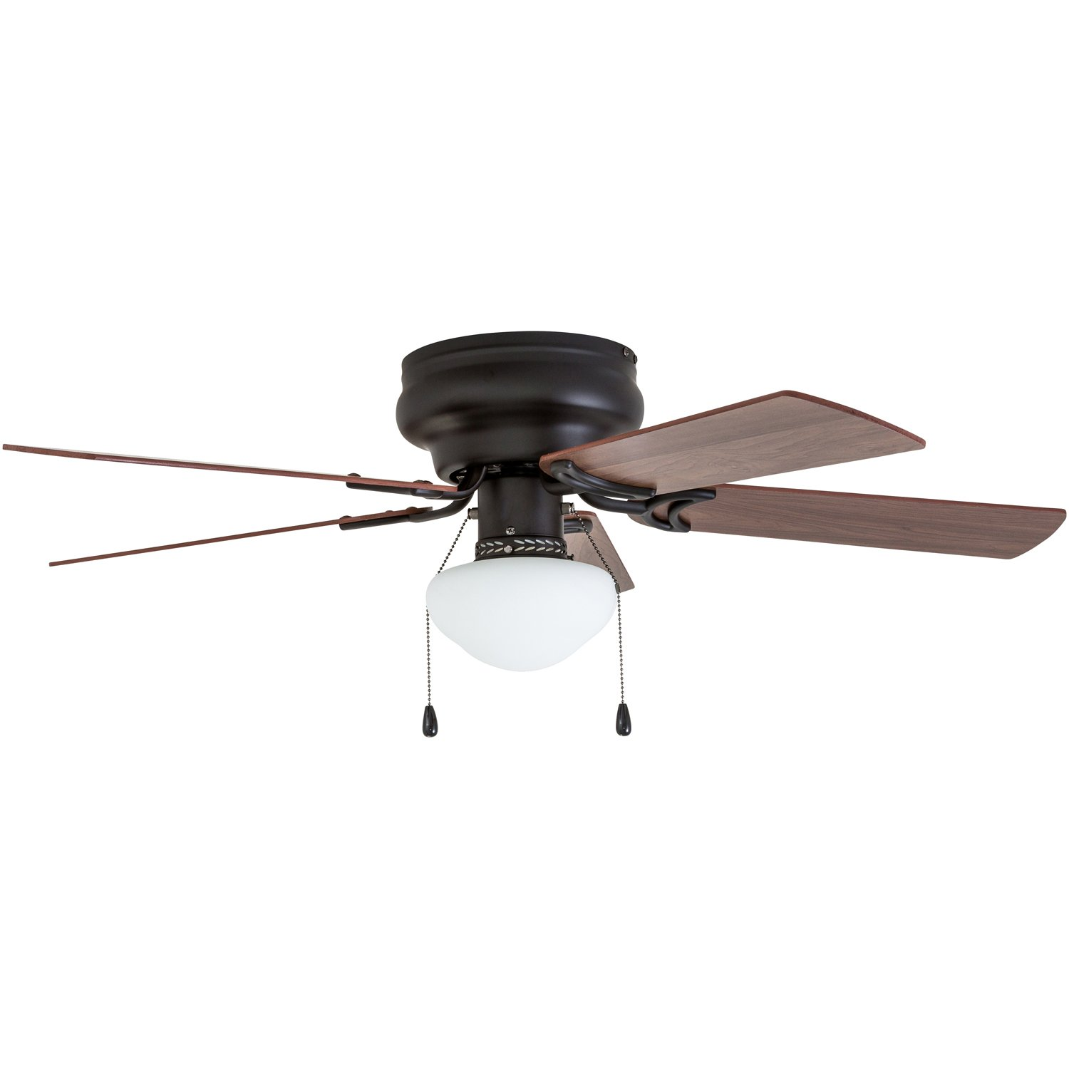 Prominence Home 50860 Alvina LED Globe Light Hugger/Low Profile Ceiling Fan, 42 inches, Bronze by Prominence Home (Image #4)
