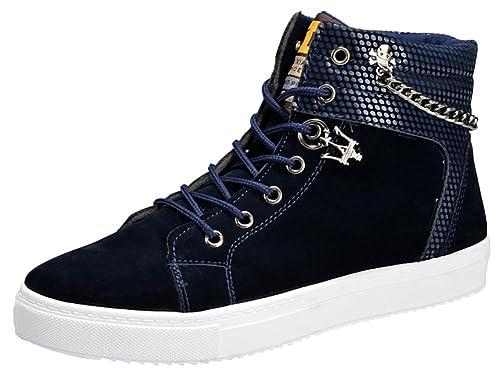 Sneakers Montantes Wealsex Casual Homme Basket Daim Haute Klu3T1JcF