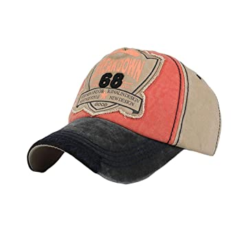 520ac255 Trucker Outdoor Hats for Men & Women, Iuhan Vintage Letters Embroidery Hat  Low Profile Washed