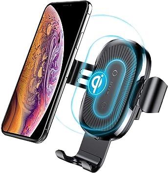 Qi Air Vent Mount Voiture pour iPhone11 X // 8//8 Plus Chargeur sans Fil Auto Voiture Chargeur Auto sans Fil /à Induction Samsung Galaxy S8 // S8 Plus// S7 Edge// S6 Edge//Note 5 Qi 5w pour Airpords 2