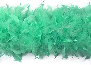 Moonlight Feather | 2 Yards - 80 Grams Mint Green Turkey Chandelle Feather Boa Halloween, Dance, Fashion Boa