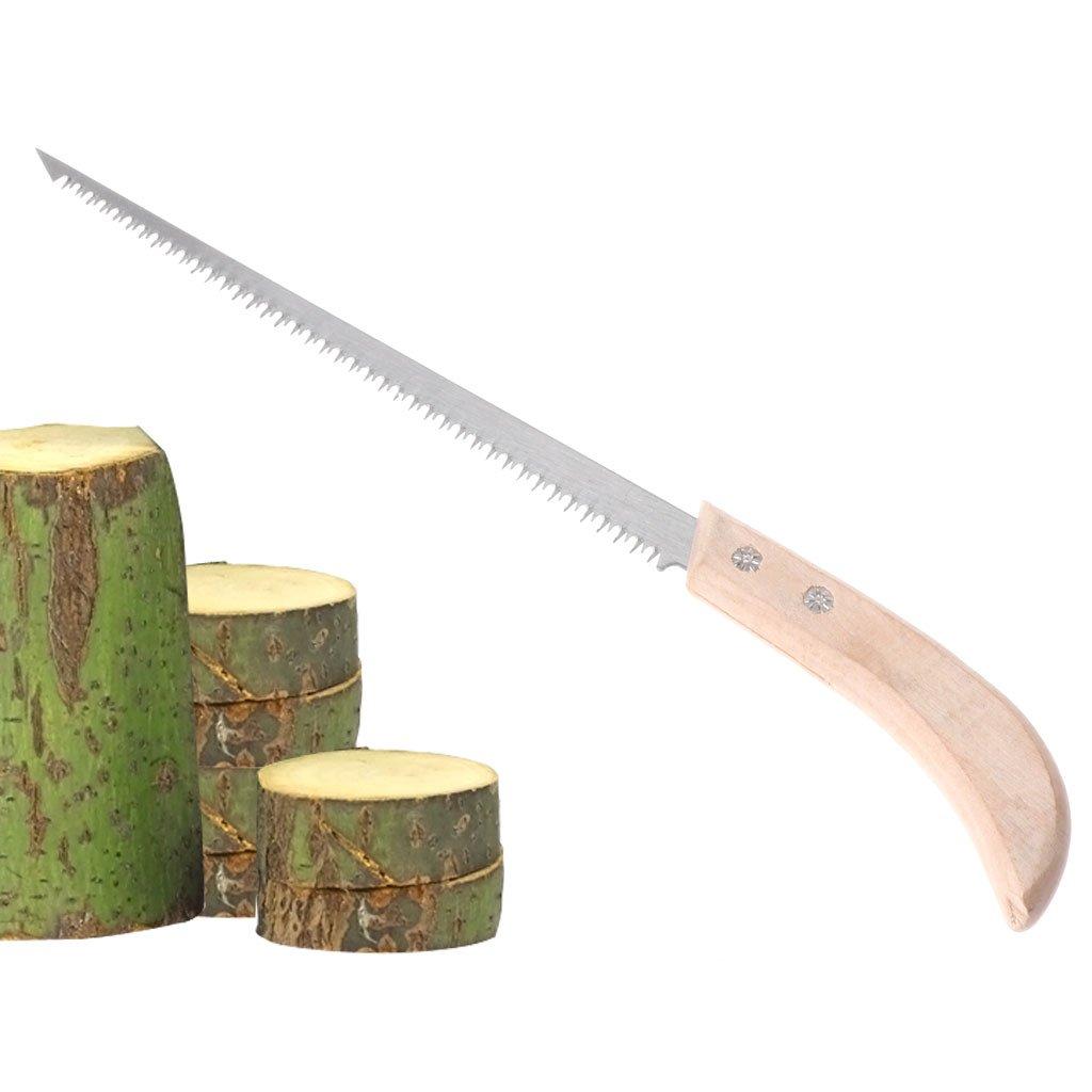 Mikiya La main de jardin de scie de mur de main dalliage de mangan/èse de 220mm petite pour le jardin de travail du bois