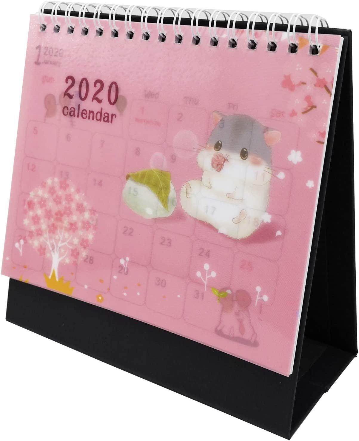Desk Calendar 2020 Academic Planner Daily Weekly Monthly Yearly Organizer and Goal Journal, Designed to Set Goals and Get Things Done (Hamster)
