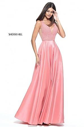 Amazon.com: Sherri Hill 51182 Beaded Bodice Prom Dress (US10 UK14 ...