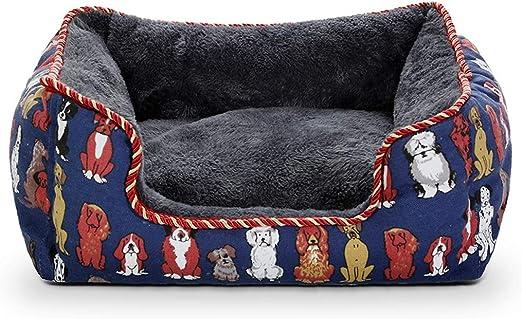 Queen Boutiques Nidos De Mascotas Extraíbles Perrera para Mascotas Arena para Gatos Pequeñas Y Medianas Fuentes para Mascotas De La Perrera (Color : Blue, tamaño : S-50 * 40 * 18CM): Amazon.es: Hogar