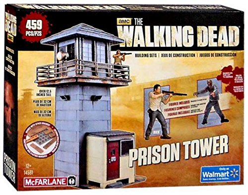 Fun to Assemble A Centerpiece to Your Collection 14561 AMC TV Series Walking Dead McFarlane Toys The Prison Tower Building Set