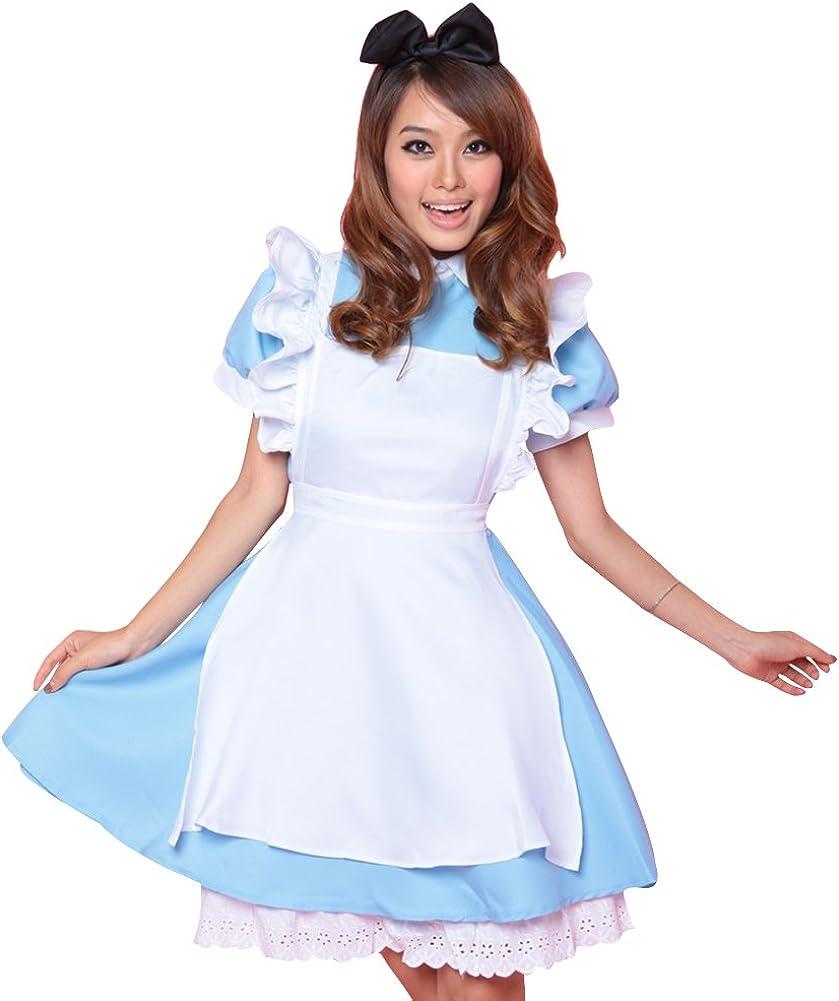 colore azzurro grembiule per cosplay taglia M Costume da Alice nel Paese delle Meraviglie // Lolita // cameriera Unicon bab