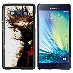 Pintura de la acuarela Significado Profundo- Metal de aluminio y de plástico duro Caja del teléfono - Negro - Samsung Galaxy A5 / SM-A500
