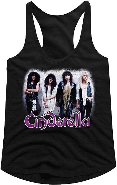Camiseta sin mangas con espalda cruzada para mujer, diseño de la banda de rock de Cenicienta