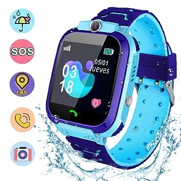 NAIXUES Smartwatch Niños, Reloj Inteligente Niño IP67, LBS, Hacer ...
