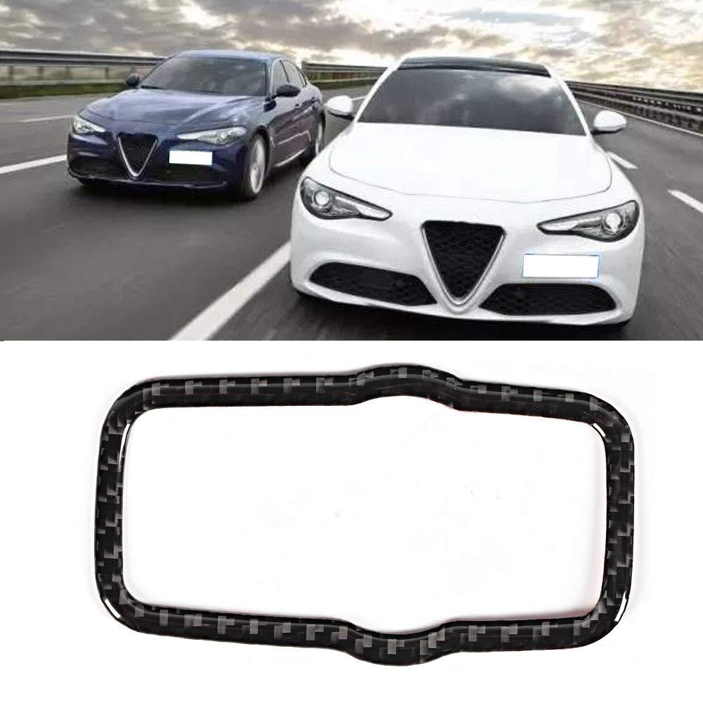 Decorazione interna auto rivestimento pulsante interruttore fari in fibra di carbonio compatibile con Alfa Romeo Giulia 2017 2018 2019