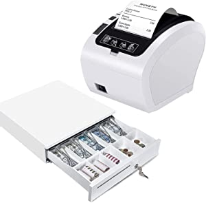 MUNBYN WiFi Receipt Printer with Cash Drawer, 16