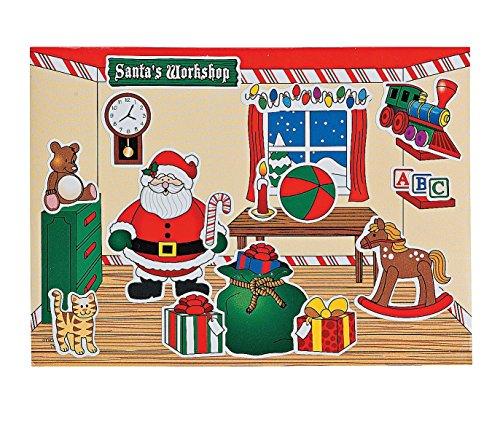 Fun Express 4/4082 Santa's Workshop Sticker Scenes, 24 Pcs