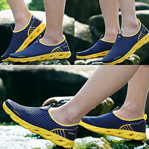 Dunkelblau Slip Sneakers Männer Wasser Breathable Mesh Casual Leichten Schuhe auf tqSxzT1wq