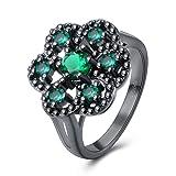 Rockyu リング レディース シンプル 人気 シルバー キラキラ 可愛い カラー ジルコニア 銀色 指輪