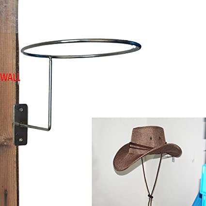 Pmsanzay Metal Cowboy Hat Rack Wall Hanging Decoration Rustic Western  Style Home Round Hook  83c3bcd4d6e4