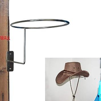759dd0014c0 Pmsanzay Metal Cowboy Hat Rack Wall Hanging Decoration Rustic Western  Style Home Round Hook
